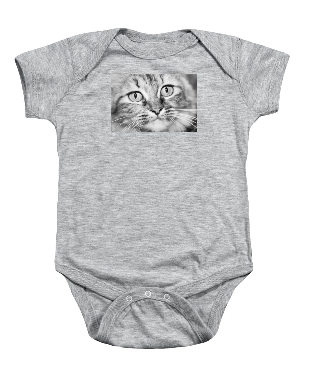 Wide Baby Onesie featuring the photograph Skc 1498 Wide Eyed by Sunil Kapadia
