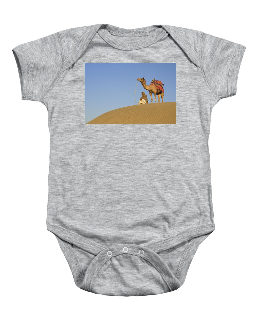 Distant Baby Onesie featuring the photograph Skn 0960 Having A Distant View by Sunil Kapadia