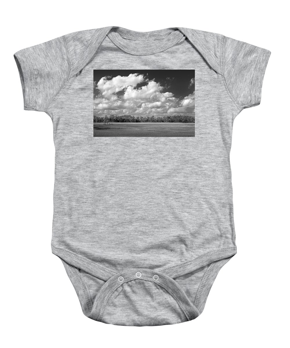 Florida Baby Onesie featuring the photograph Sky Over St. Marks by Bill Chambers