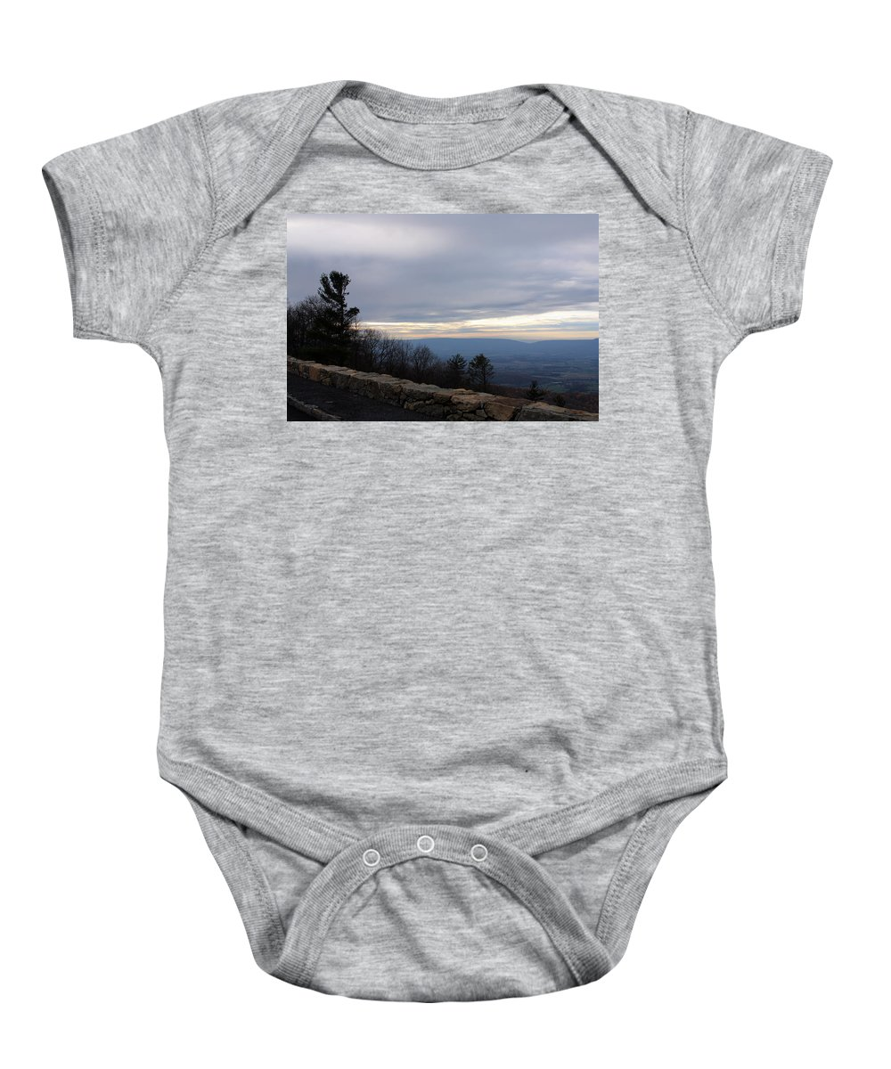 Highway Baby Onesie featuring the photograph Skyline2925 by Carolyn Stagger Cokley