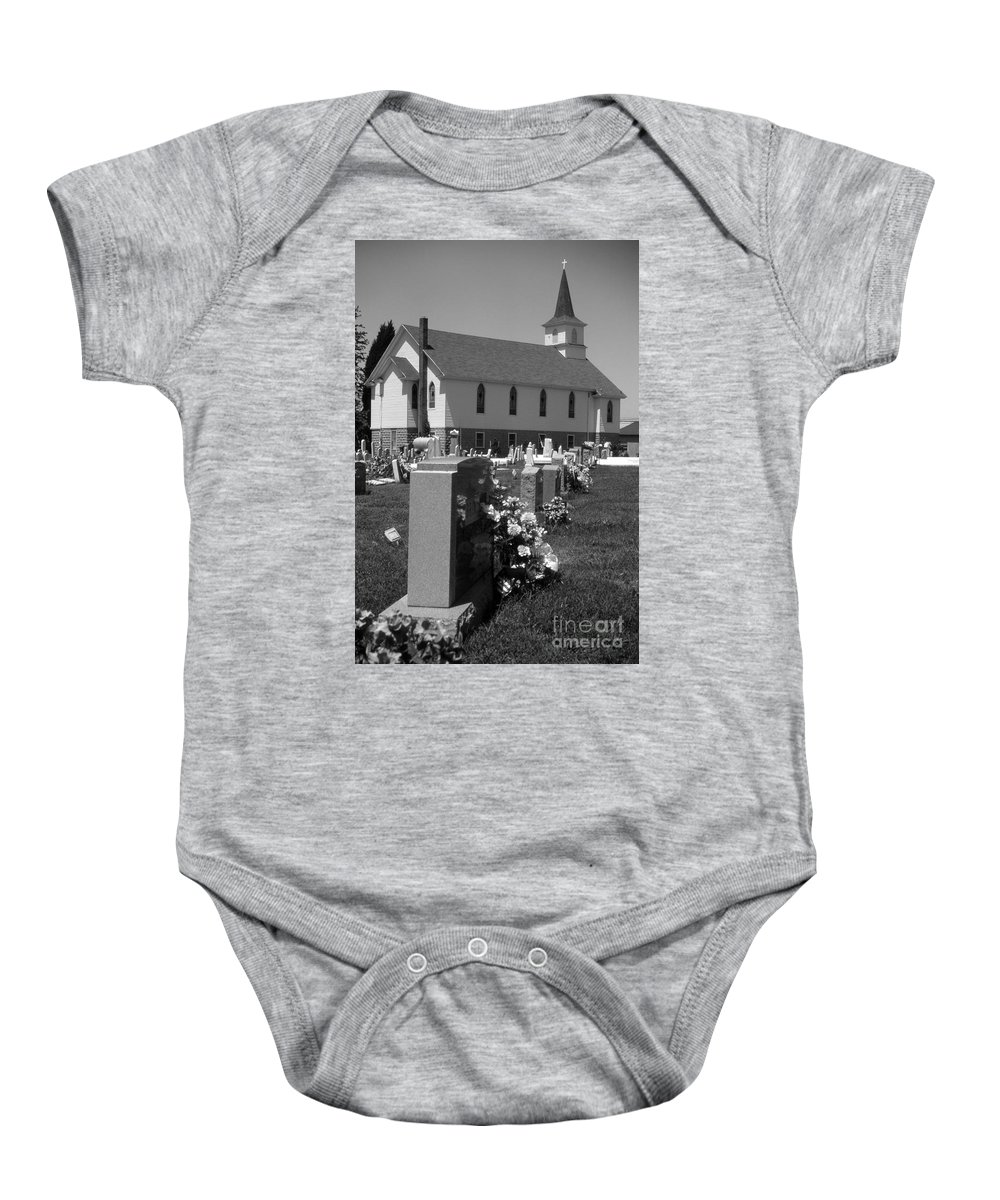 Maritime Baby Onesie featuring the photograph Smith Island Church by Skip Willits