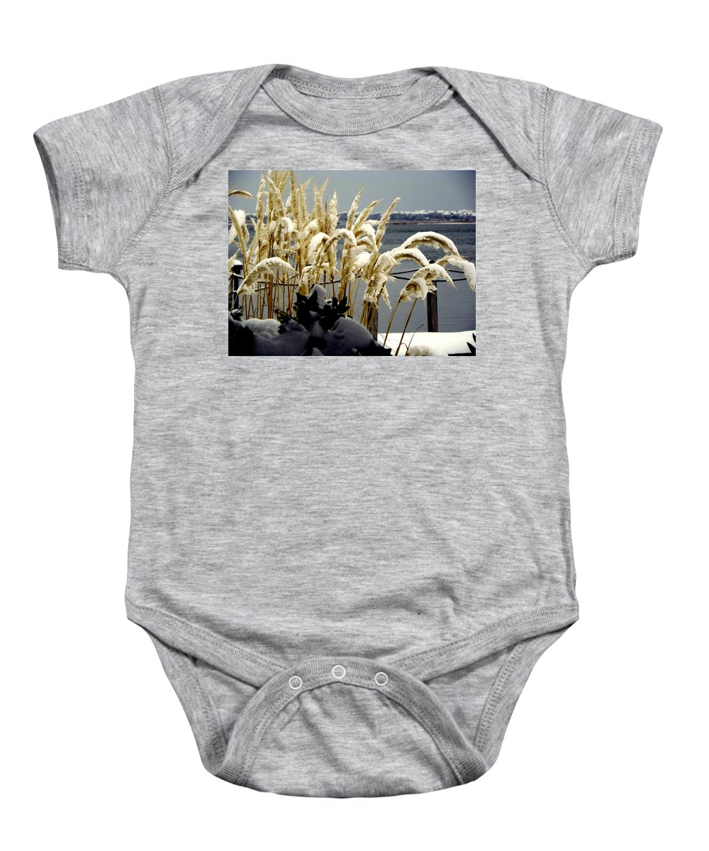 Snow Baby Onesie featuring the photograph Snow Dust by Karen Wiles