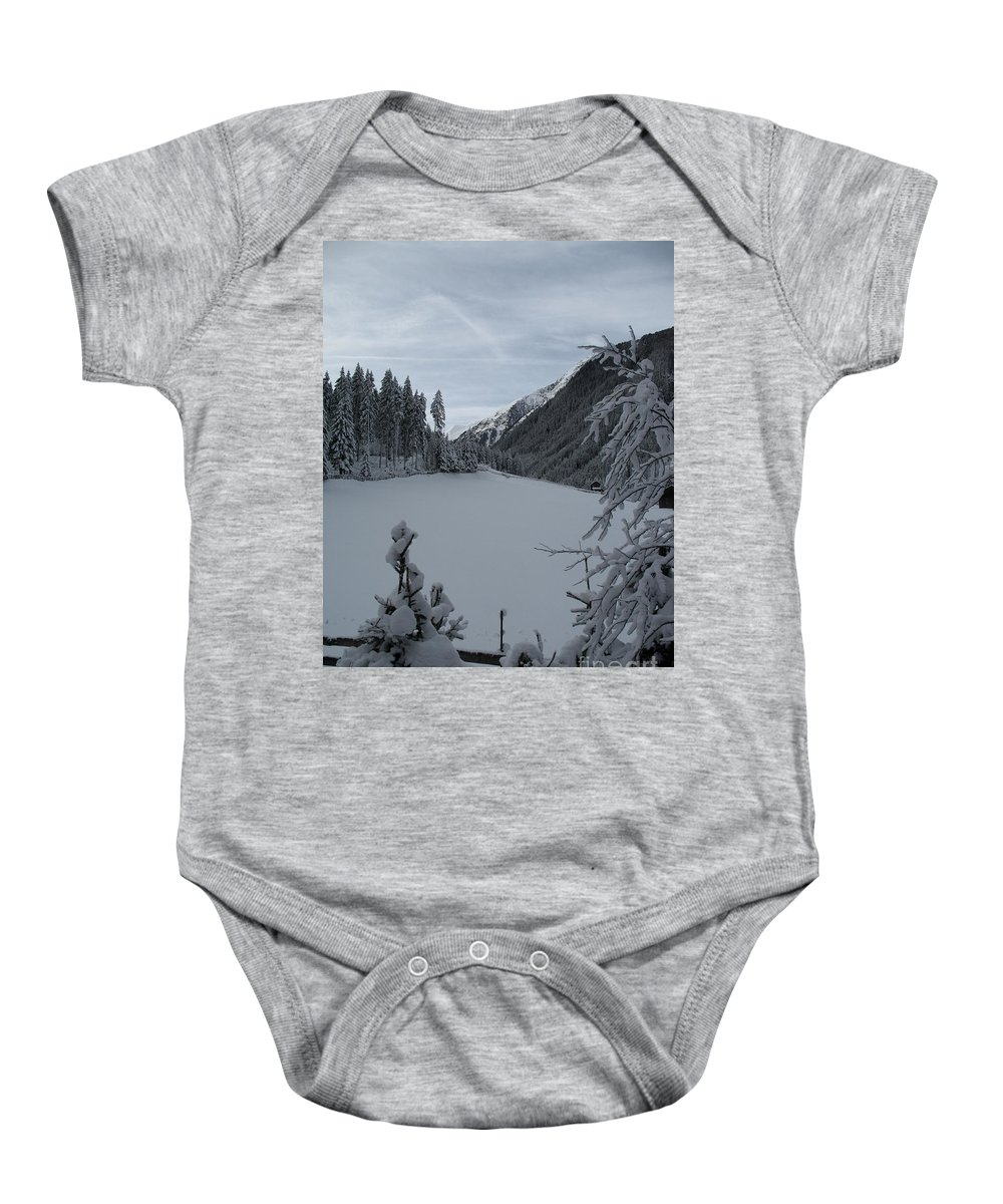 Snow Baby Onesie featuring the photograph Snowy Meadow by Christiane Schulze Art And Photography