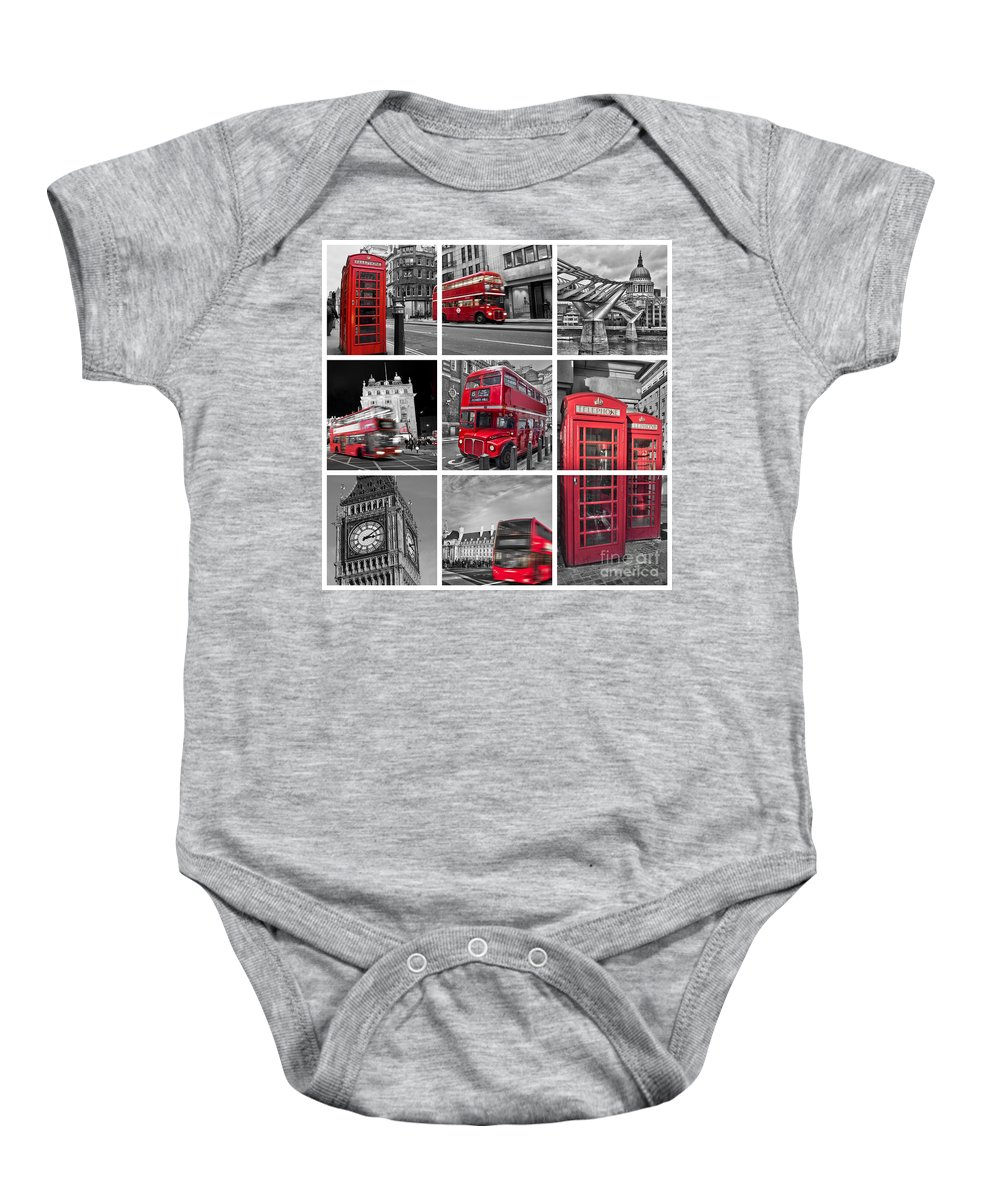 London Baby Onesie featuring the photograph So British by Delphimages Photo Creations