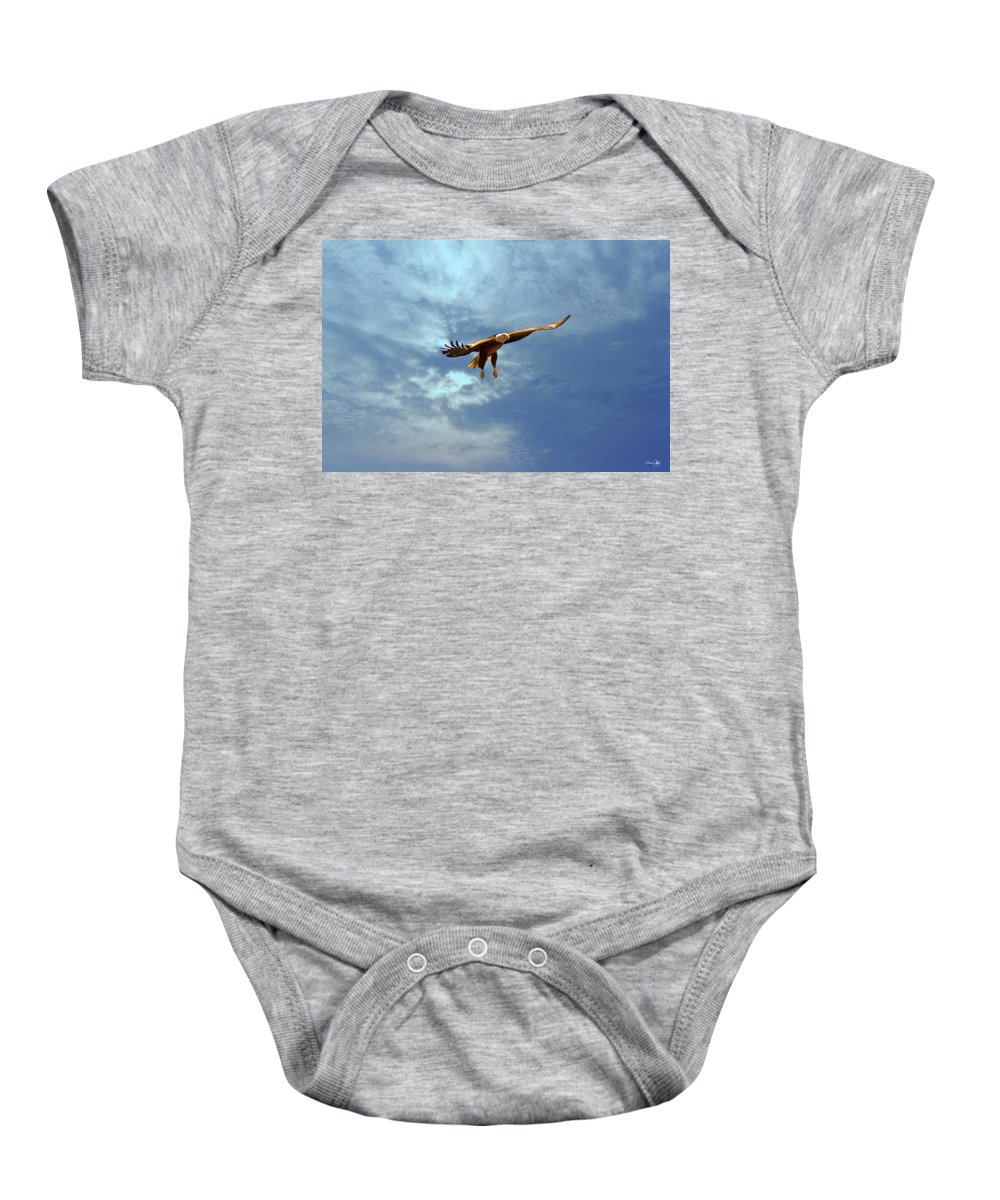 Eagle Baby Onesie featuring the photograph Soaring by Scott Pellegrin