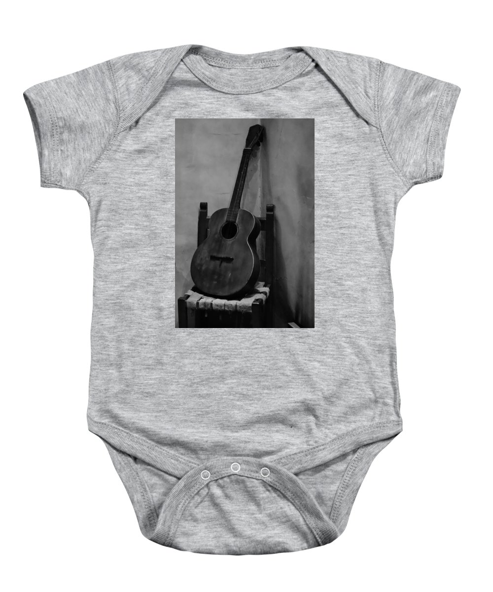 Guitar Baby Onesie featuring the photograph Solo by Allissa Thompson