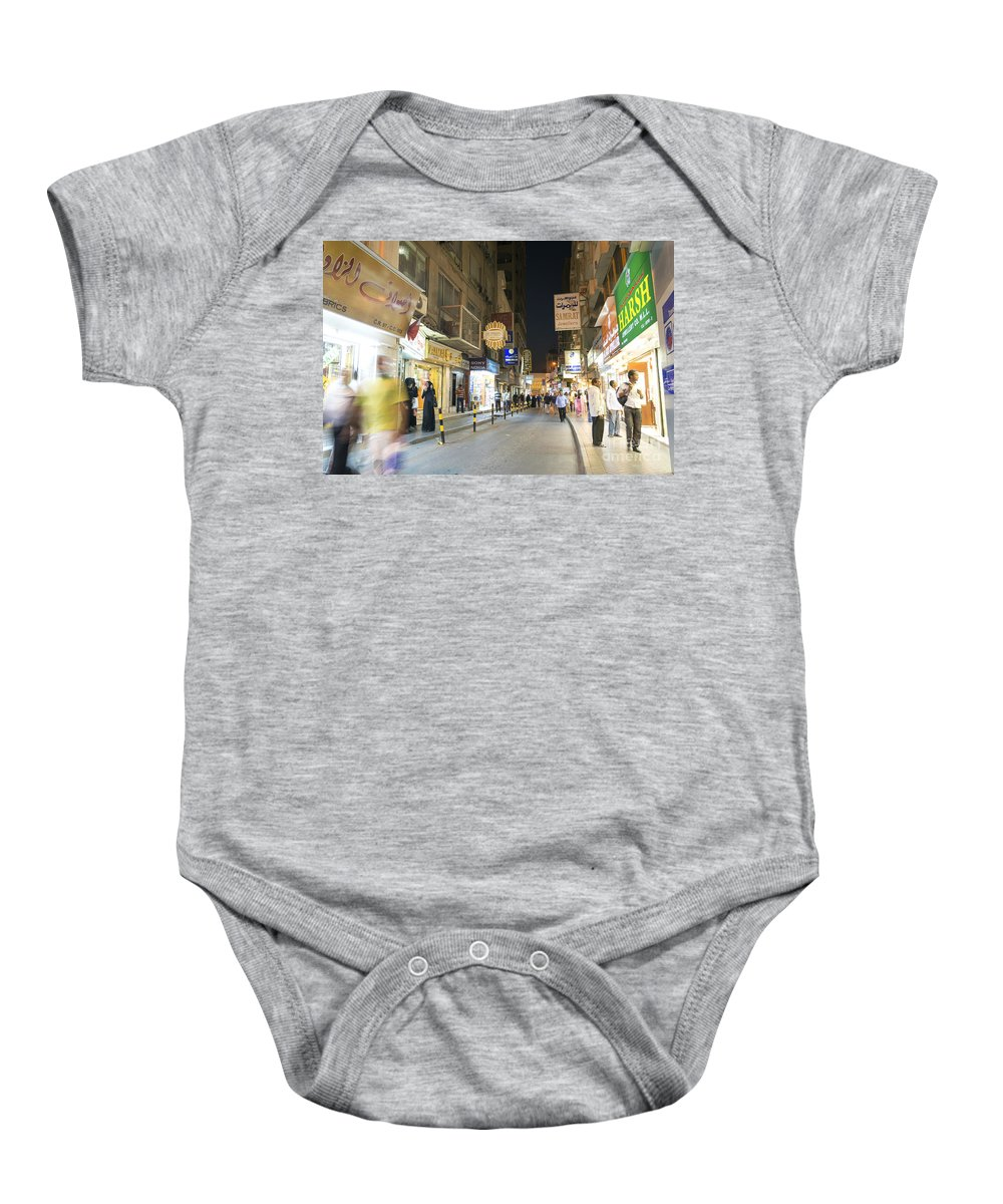 Arab Baby Onesie featuring the photograph Souk In Central Manama Bahrain by Jacek Malipan