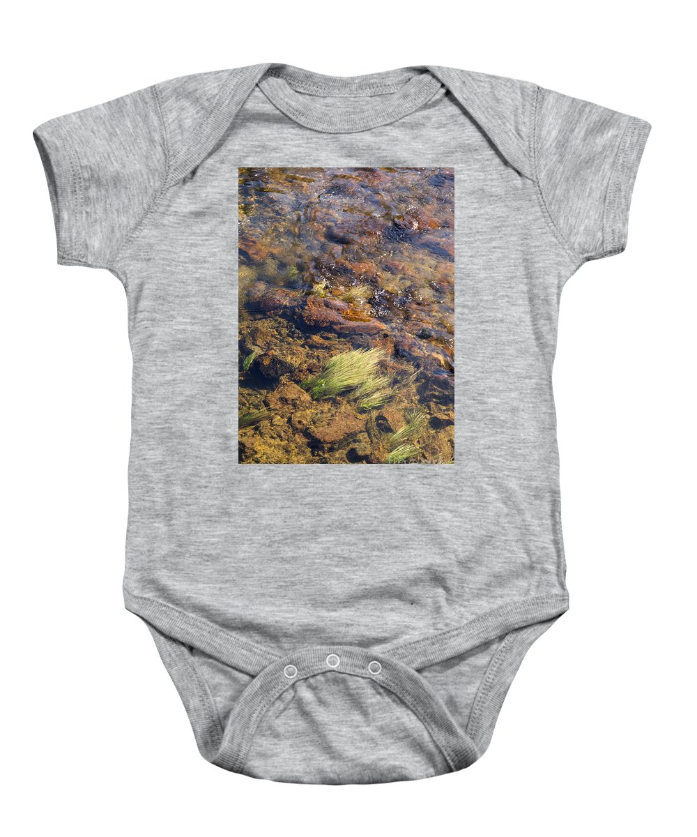 Gibbon River Baby Onesie featuring the photograph Sound And Motion by Bob Phillips