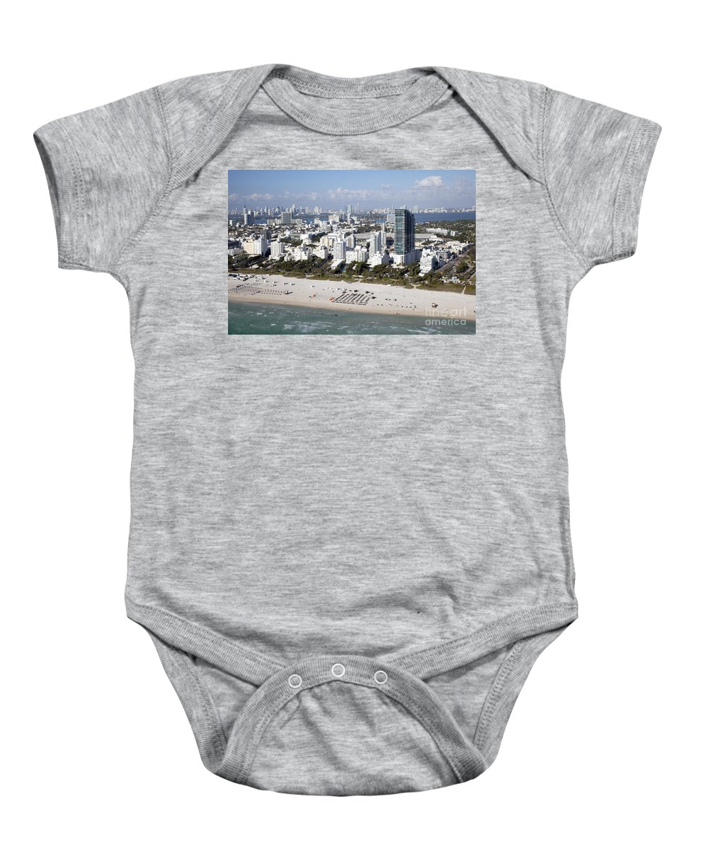 Florida Baby Onesie featuring the photograph South Beach Florida by Bill Cobb