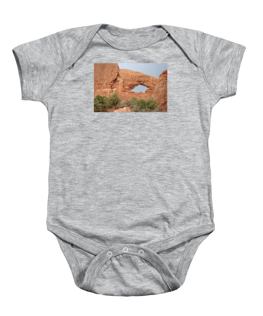 South Window Baby Onesie featuring the photograph South Window Arches National Park by Christiane Schulze Art And Photography