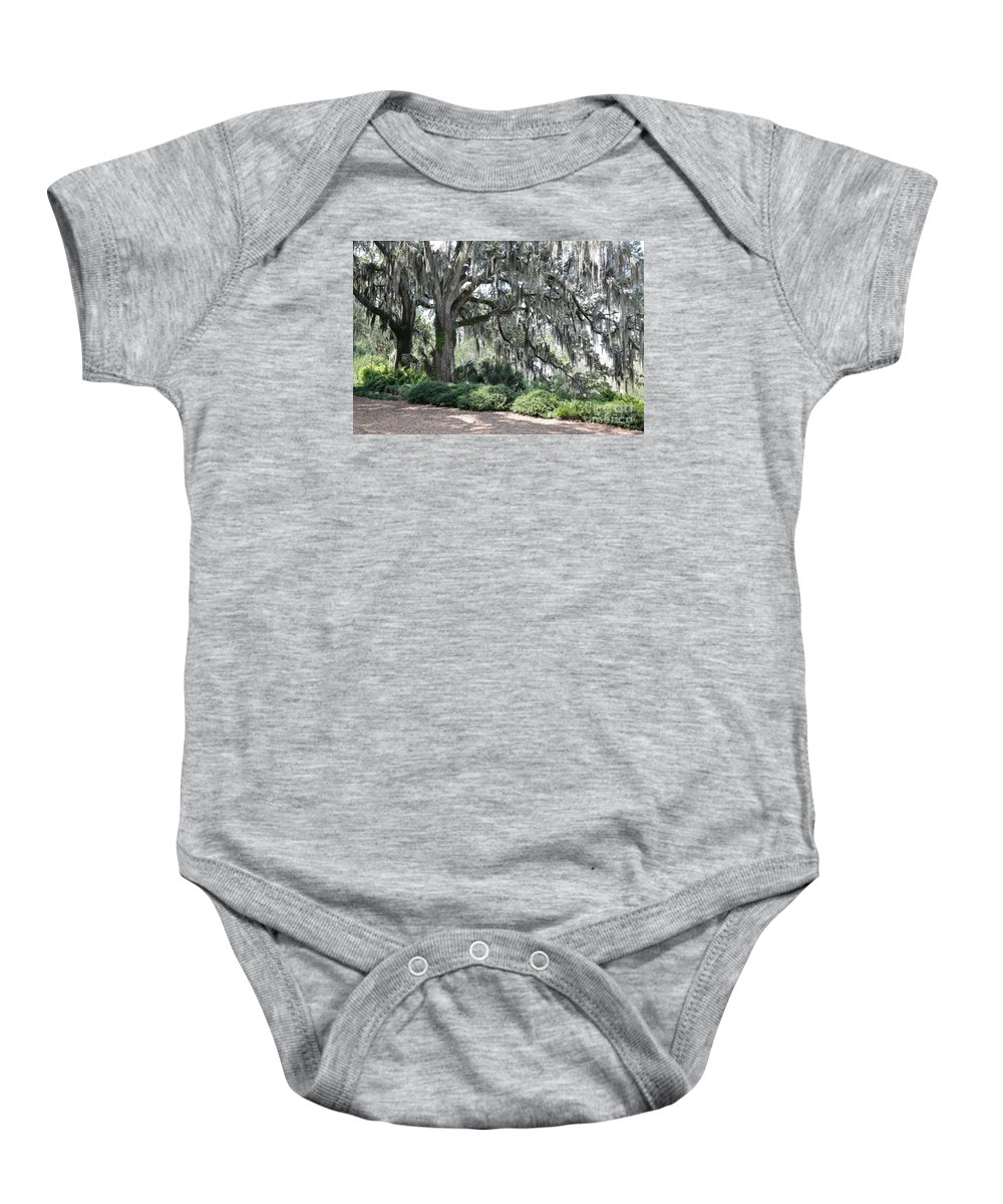 Live Oaks Baby Onesie featuring the photograph Southern Trees by Carol Groenen