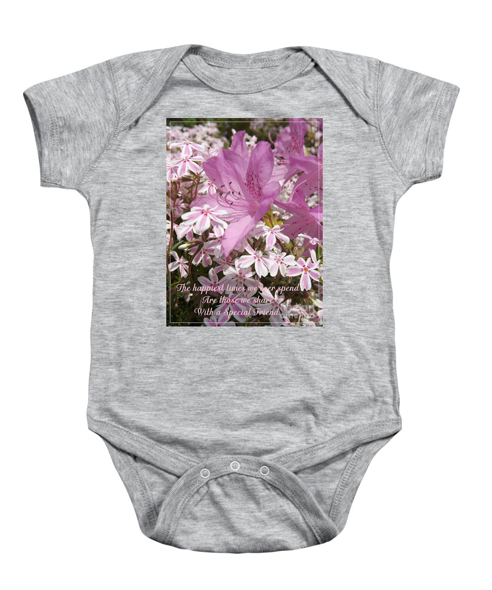 Azalea Baby Onesie featuring the photograph Special Friend by Sara Raber