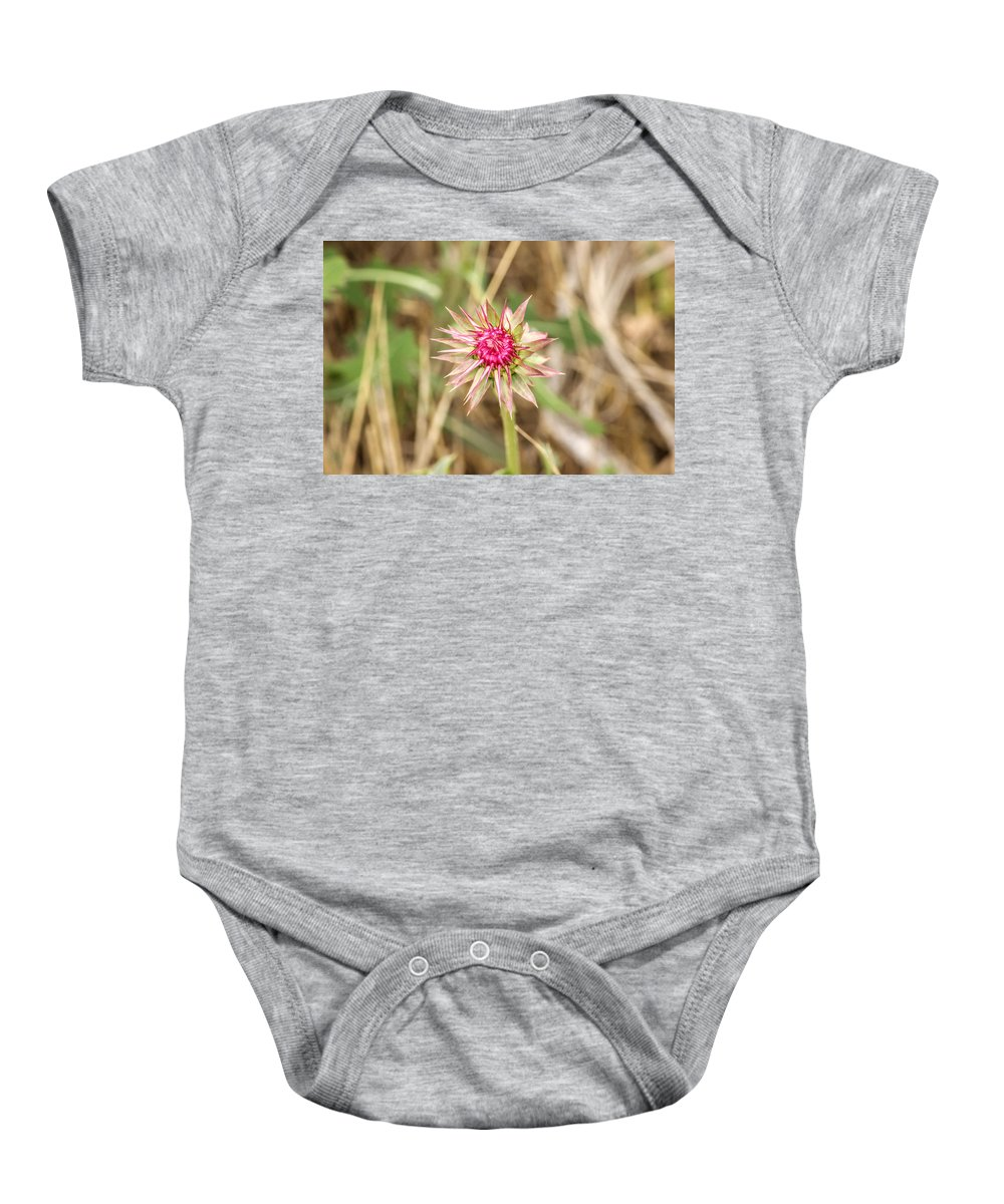 Spikey Baby Onesie featuring the photograph Spikes by Becca Buecher