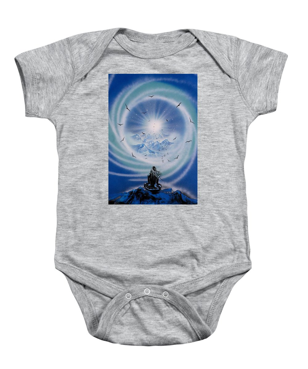 Baby Onesie featuring the painting Spirit by Ronny Or Haklay