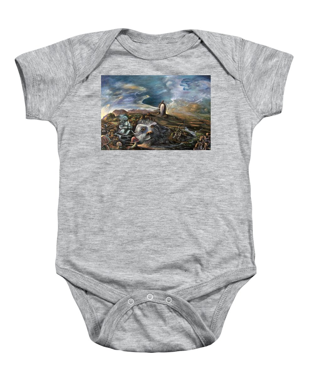 Mirror Baby Onesie featuring the painting Spirit World by Sue Stake
