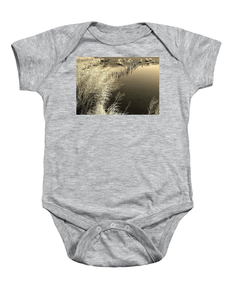 Waterscape Baby Onesie featuring the photograph Splendor by Bob Geary