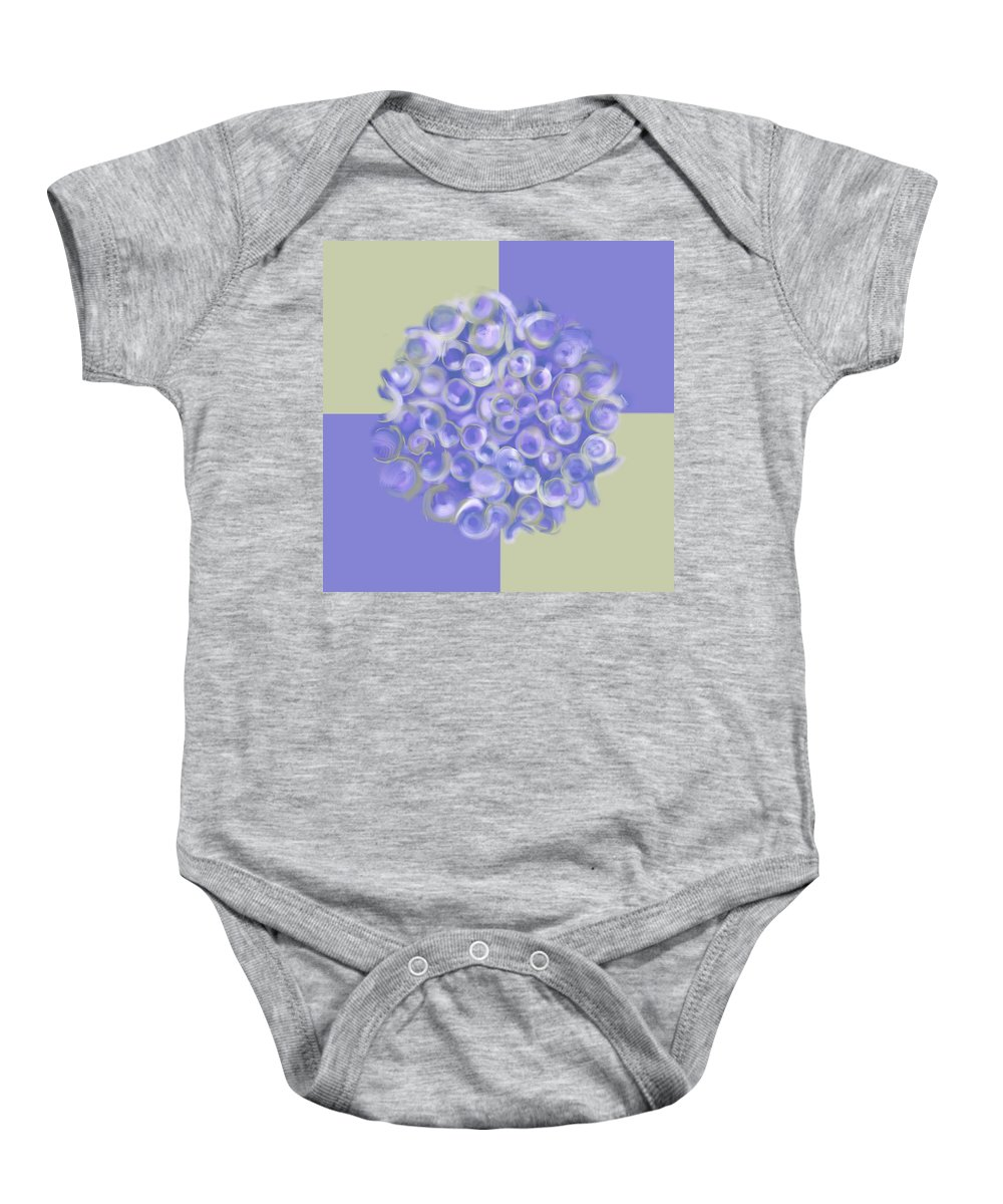 Bubbles Baby Onesie featuring the digital art Spreeze Lilac by Christine Fournier