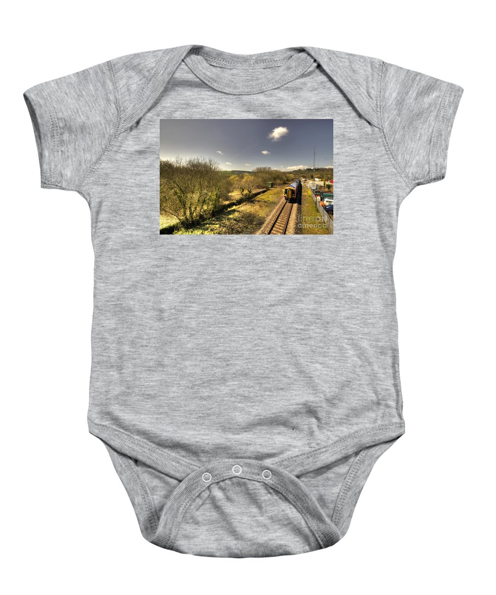 Seaton Baby Onesie featuring the photograph Spring At Seaton Junction by Rob Hawkins