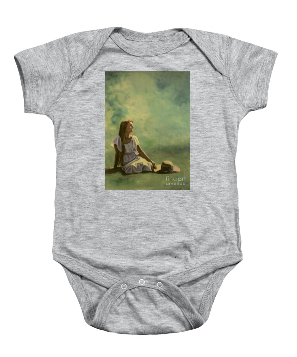 Figurative Baby Onesie featuring the painting Spring by Michael John Cavanagh