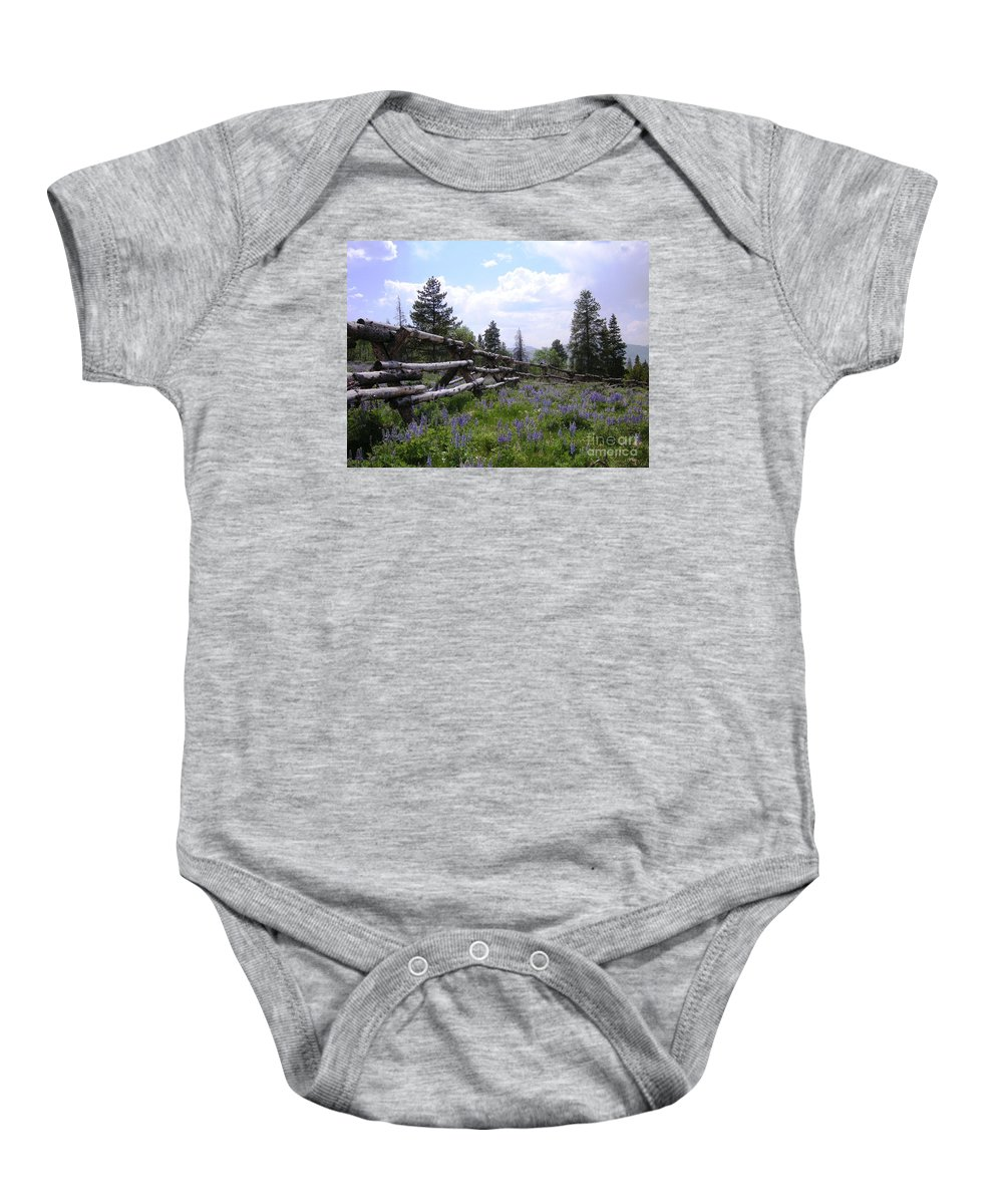 Mountains Baby Onesie featuring the photograph Spring Mountain Lupines 2 by Crystal Miller