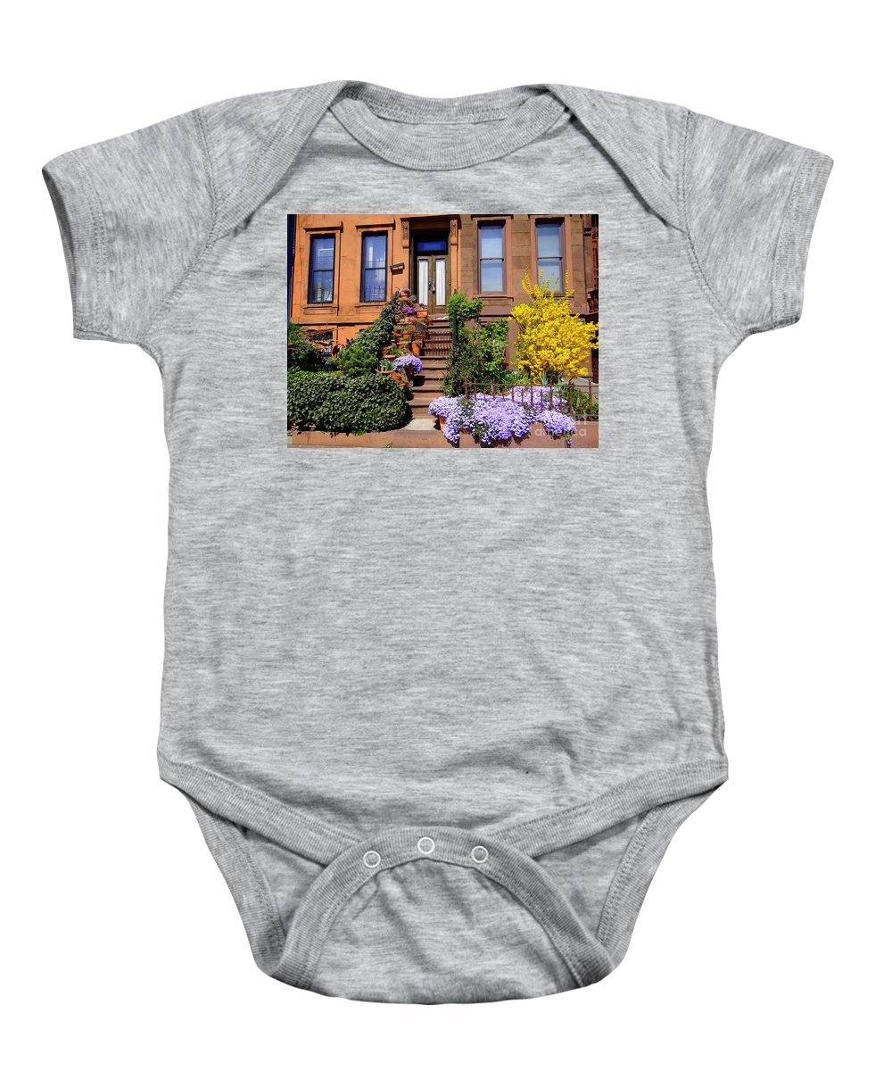 Flowers Baby Onesie featuring the photograph Springtime In Brooklyn by Ed Weidman