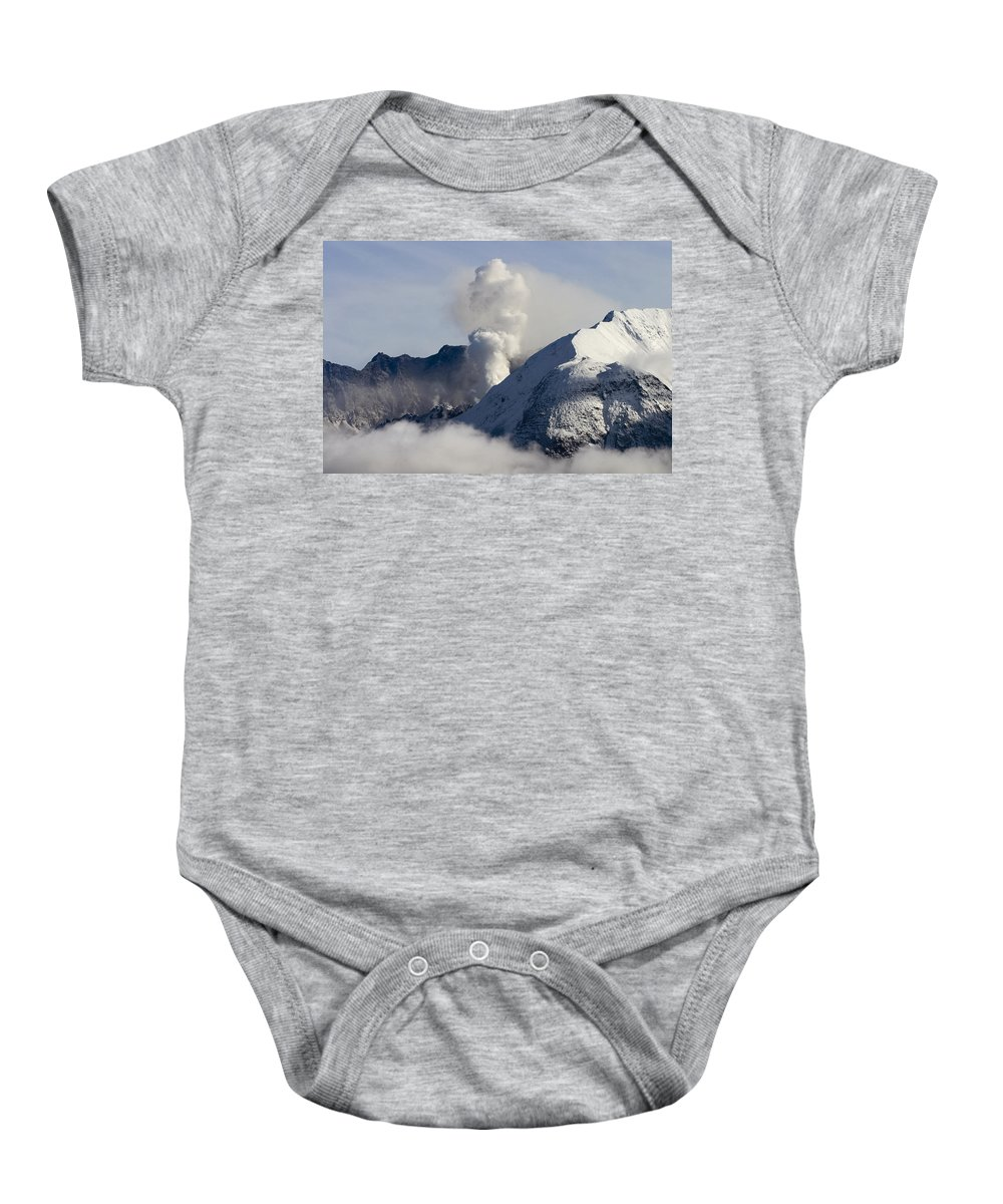 St Helens Rumble Baby Onesie featuring the photograph St Helens Rumble by Wes and Dotty Weber