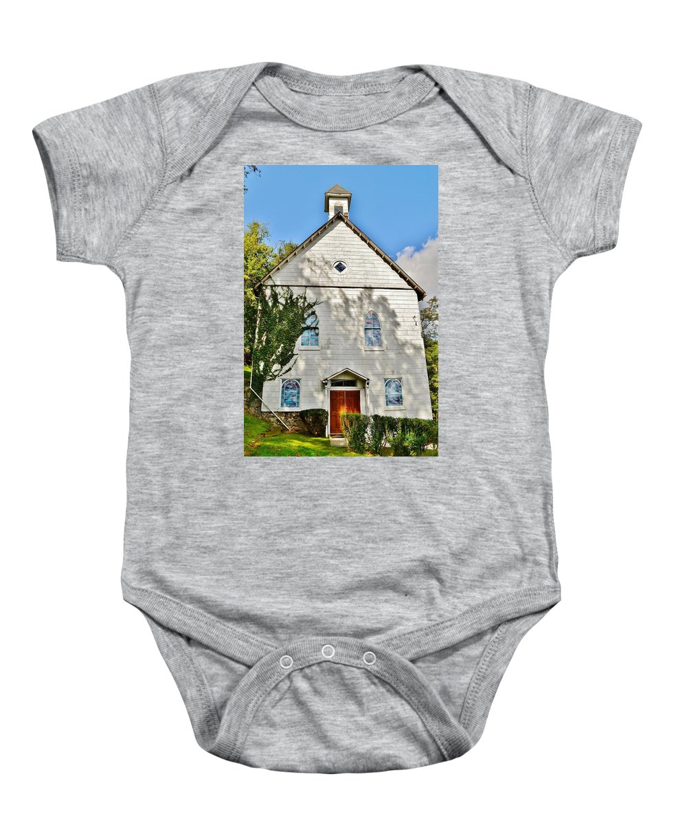 Church Baby Onesie featuring the photograph St. Luke African Methodist Episcopal Church - Ellicott City Maryland by Kim Bemis
