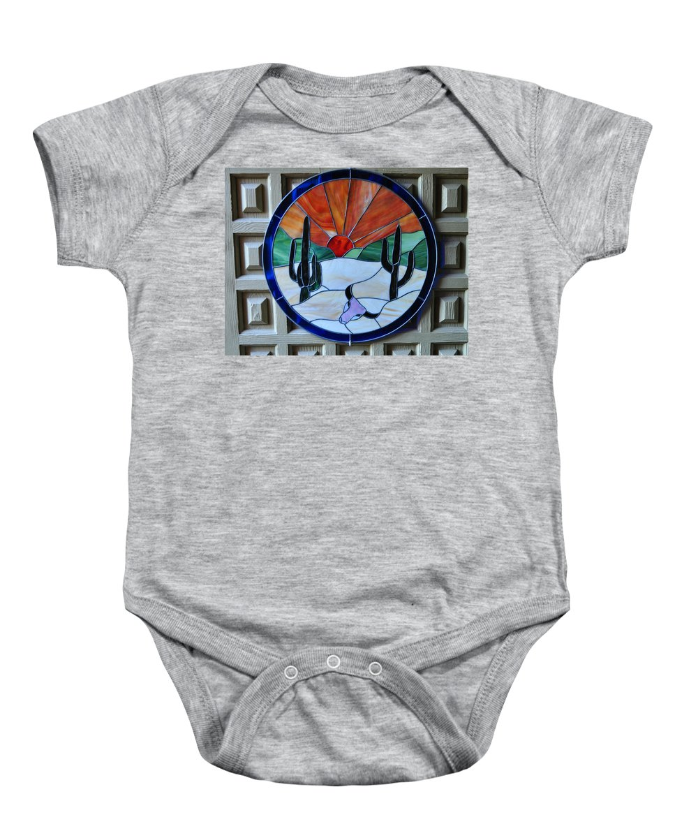 Stain Glass Baby Onesie featuring the photograph Stained Glass Sunrise by Jay Milo