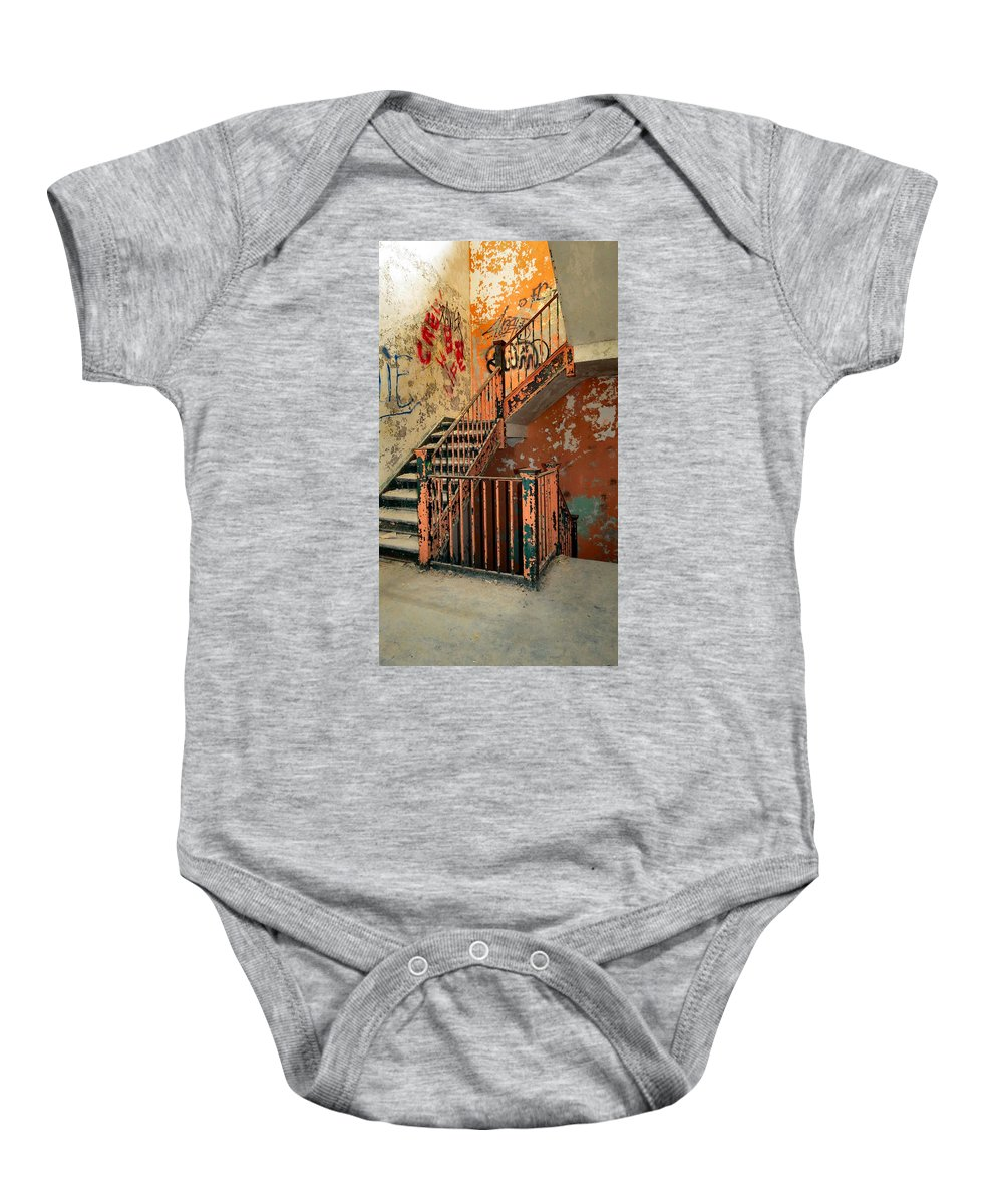 Heart Baby Onesie featuring the photograph Stairway To Heaven by Art Dingo