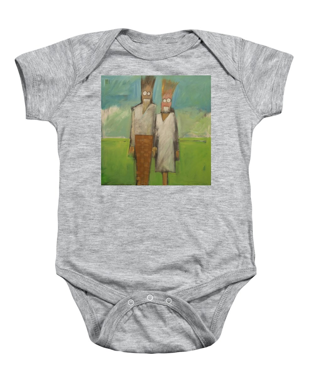 People Baby Onesie featuring the painting Stand By Me by Tim Nyberg