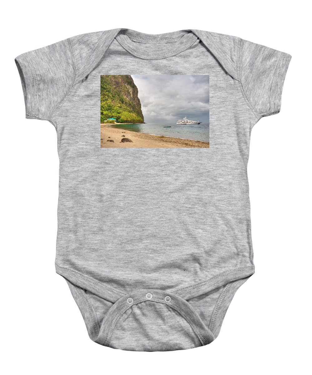 Landscape Baby Onesie featuring the photograph Stargazer Yacht by Ferry Zievinger