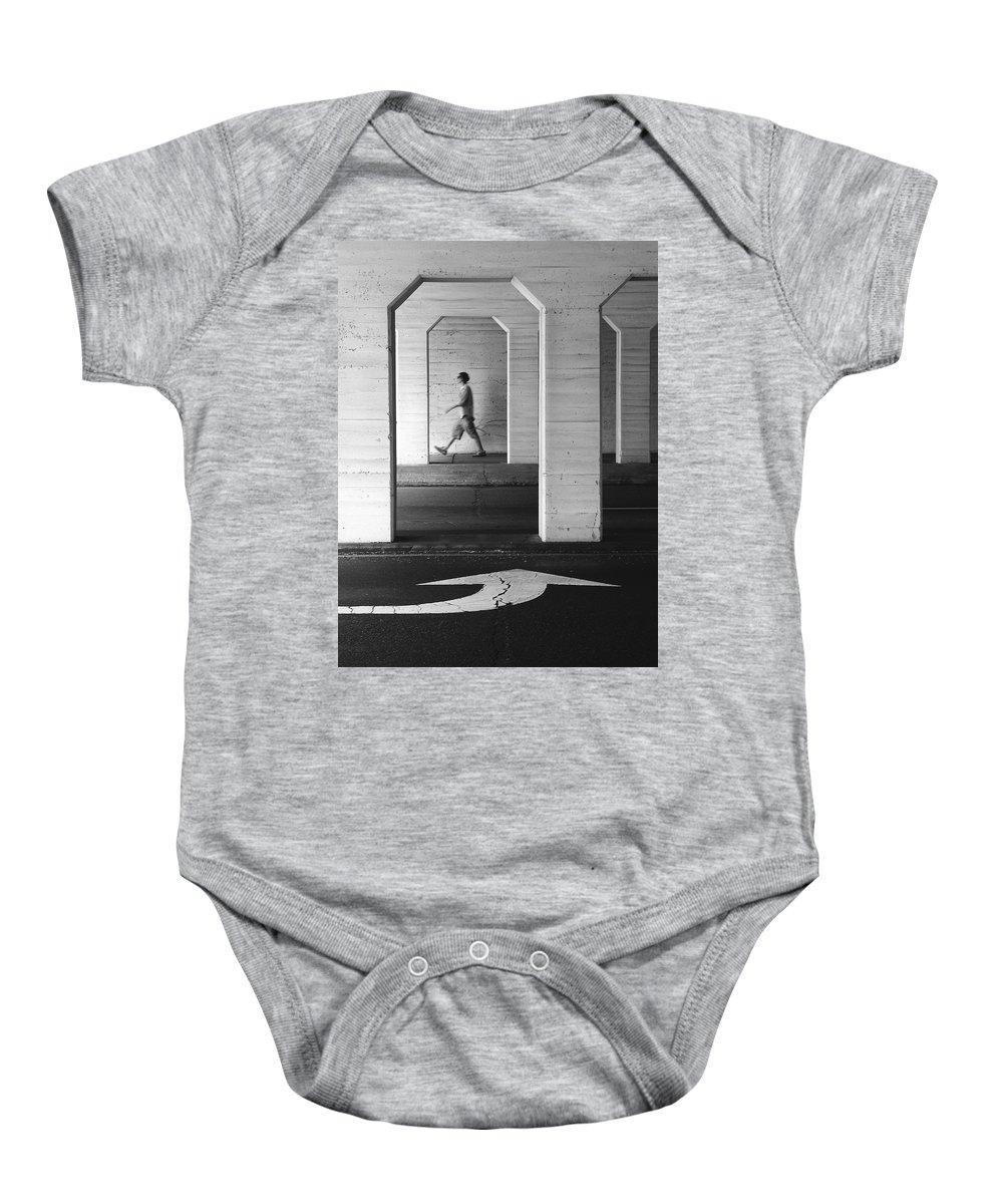Steadfast Baby Onesie featuring the photograph Steadfast by Skip Hunt
