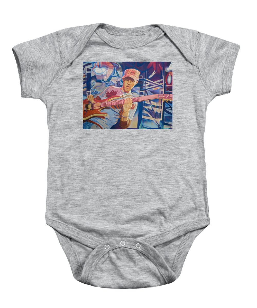Syefan Lessard Baby Onesie featuring the drawing Stefan Lessard And 2006 Lights by Joshua Morton