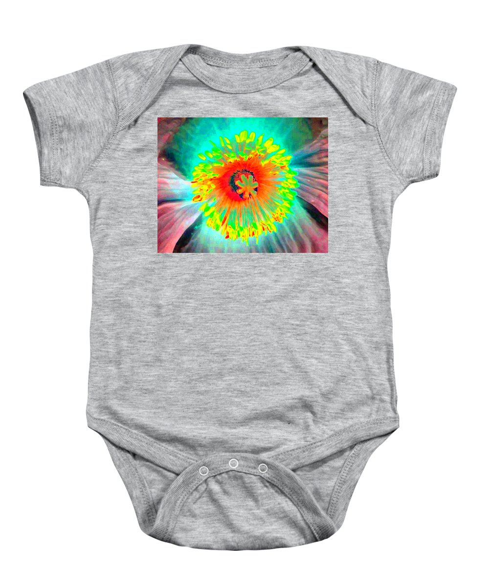 Flower Baby Onesie featuring the photograph Stigma - Photopower 174 by Pamela Critchlow