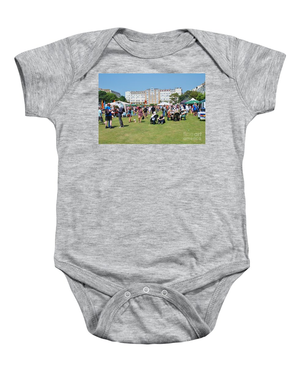 Entertainment Baby Onesie featuring the photograph St.leonards Festival England by David Fowler