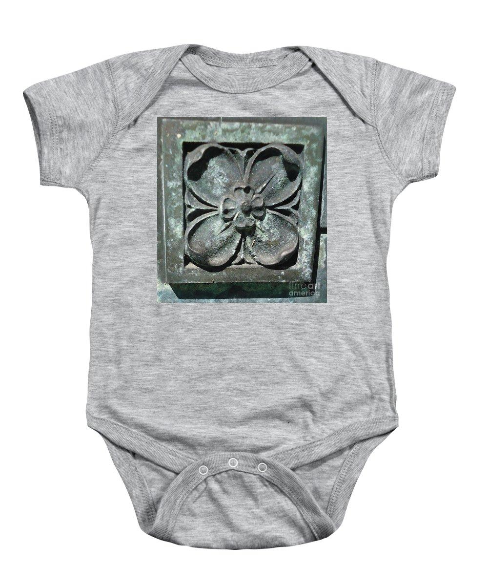 Stone Baby Onesie featuring the photograph Stone Flower by Paula Talbert