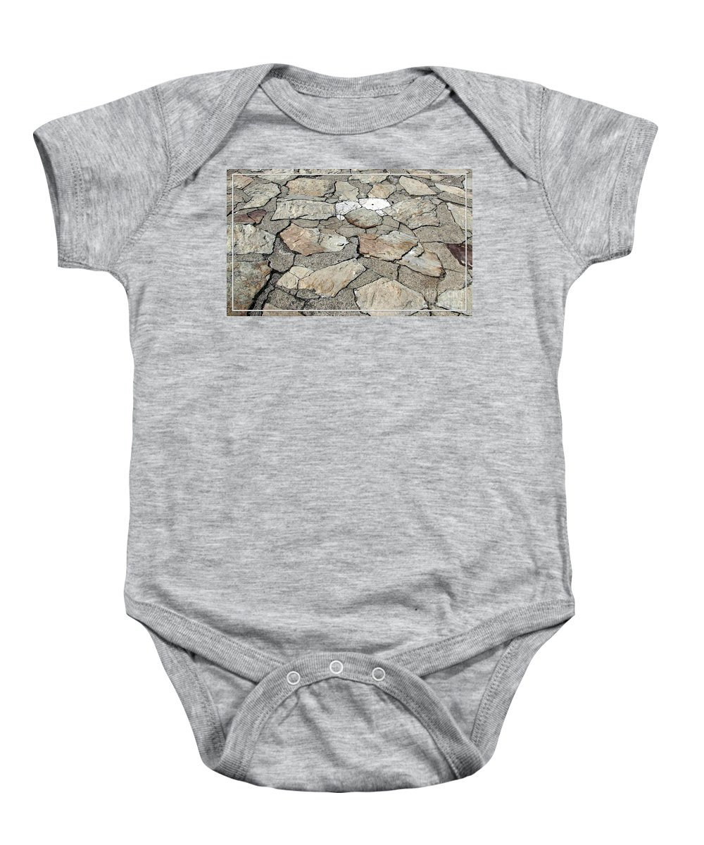 Stones Baby Onesie featuring the photograph Stone Walkway At Old Fort Niagara by Rose Santuci-Sofranko