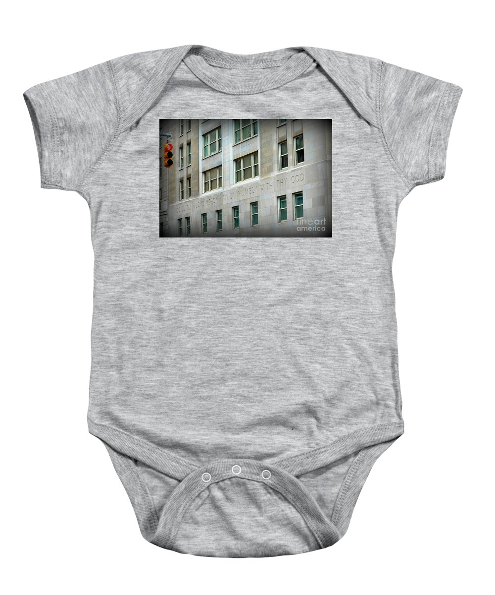 Ny Baby Onesie featuring the photograph Stop And See by Charlotte Stevenson
