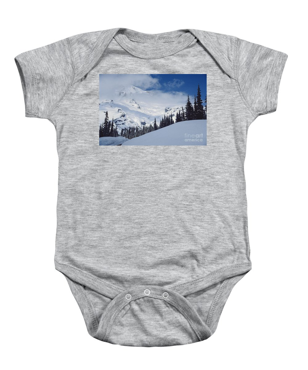 Landscapes Baby Onesie featuring the photograph Storm Over The Summit by Earl Johnson