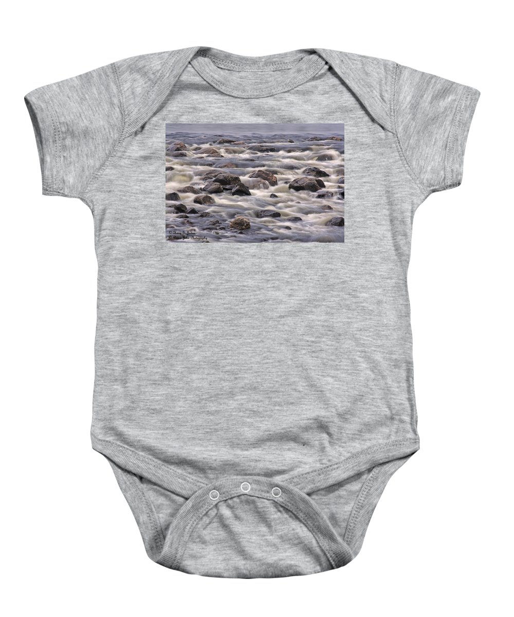 Rock Baby Onesie featuring the photograph Streaming Rocks by Hany J