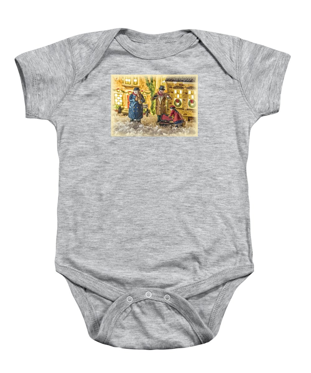 Christmas Baby Onesie featuring the photograph Street Musicians by Caitlyn Grasso
