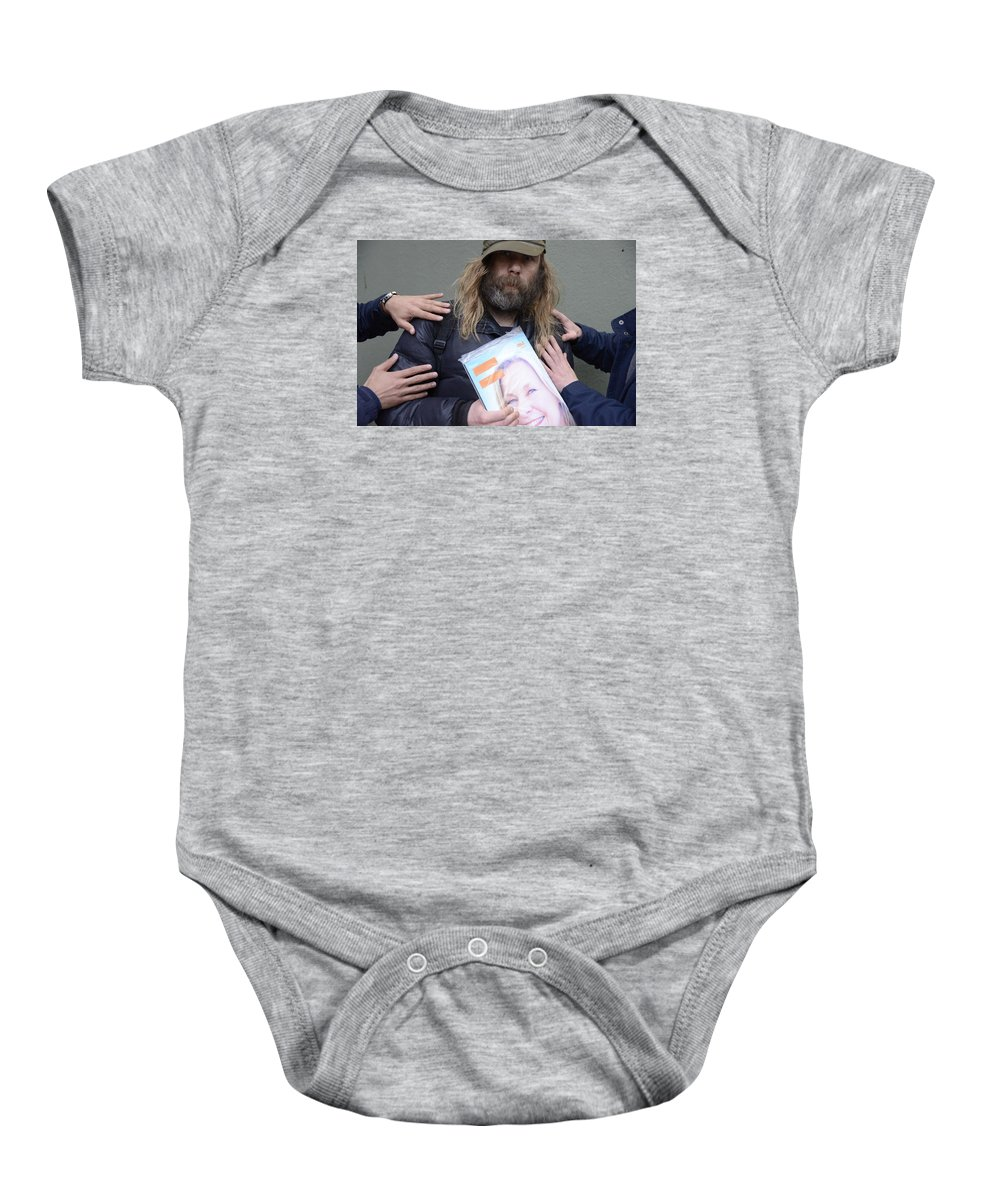 Andre Theophane ( Teo ) Sitchet-kanda Portrait And Fine Art Photography Photographs Baby Onesie featuring the photograph Street People - A Touch Of Humanity 12 by Teo SITCHET-KANDA
