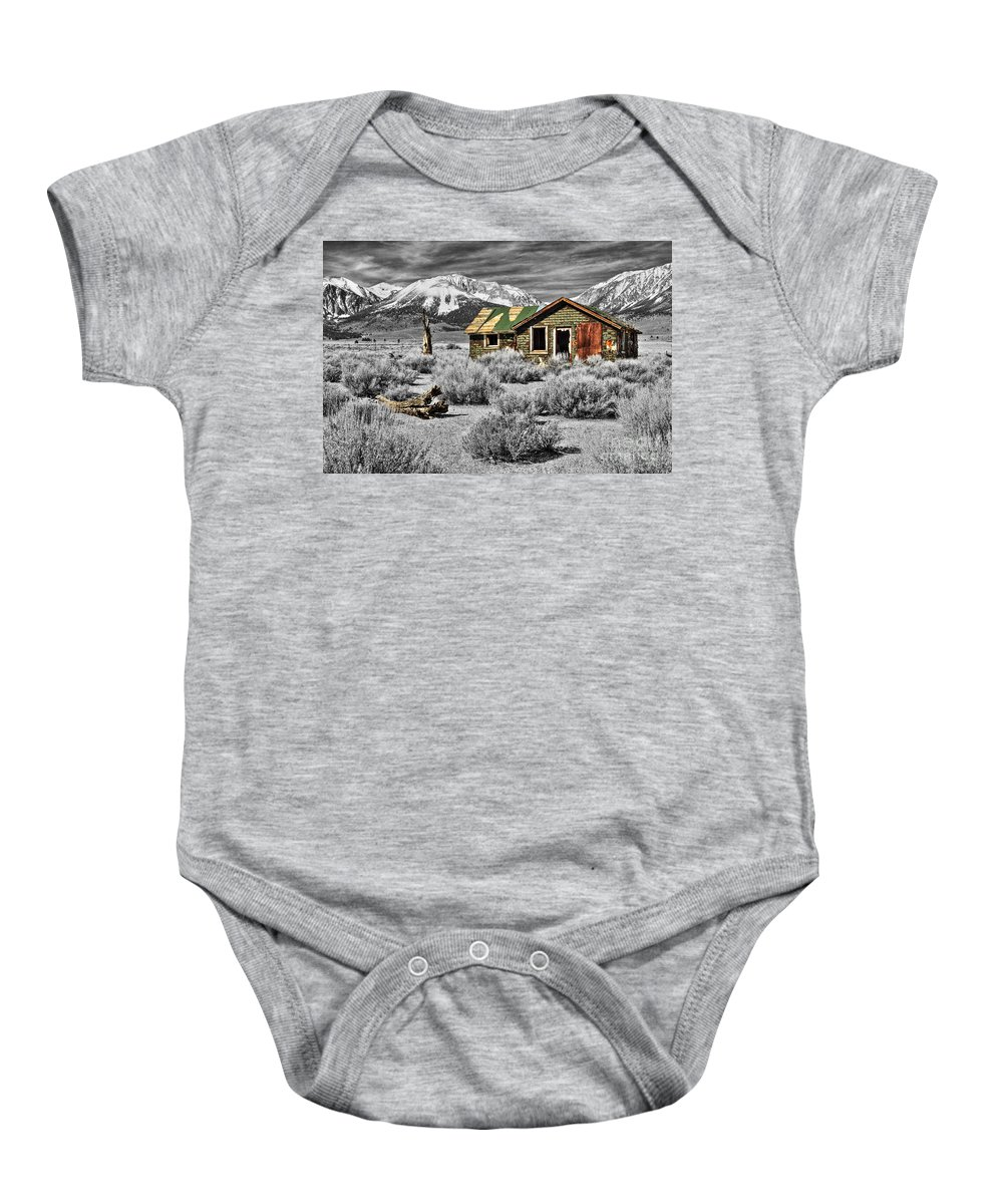 Cabin Baby Onesie featuring the photograph Strength Amidst The Test Of Time by James Eddy