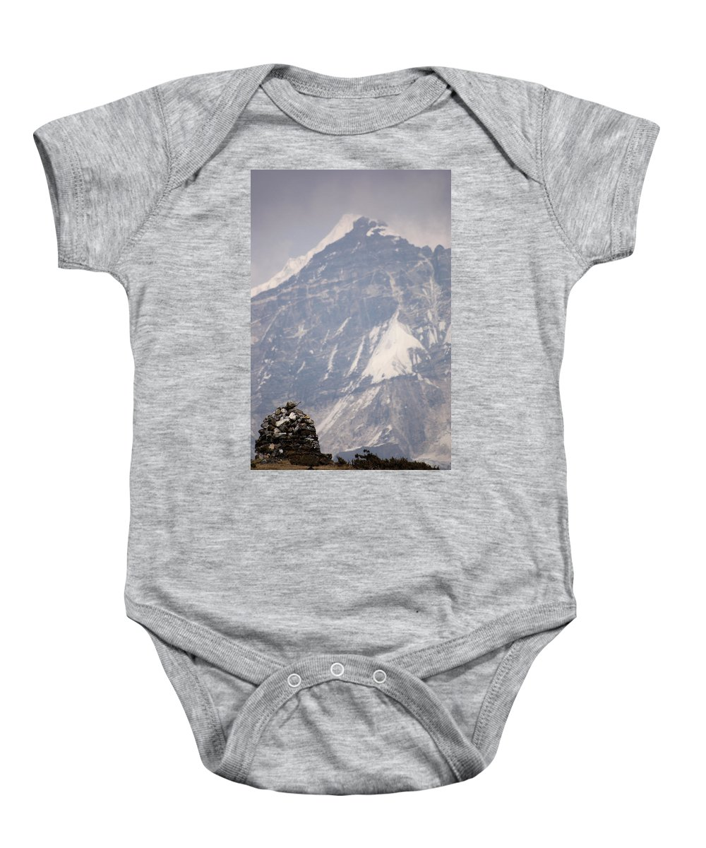 Stupa Baby Onesie featuring the photograph Stupa And Pandim by Helix Games Photography
