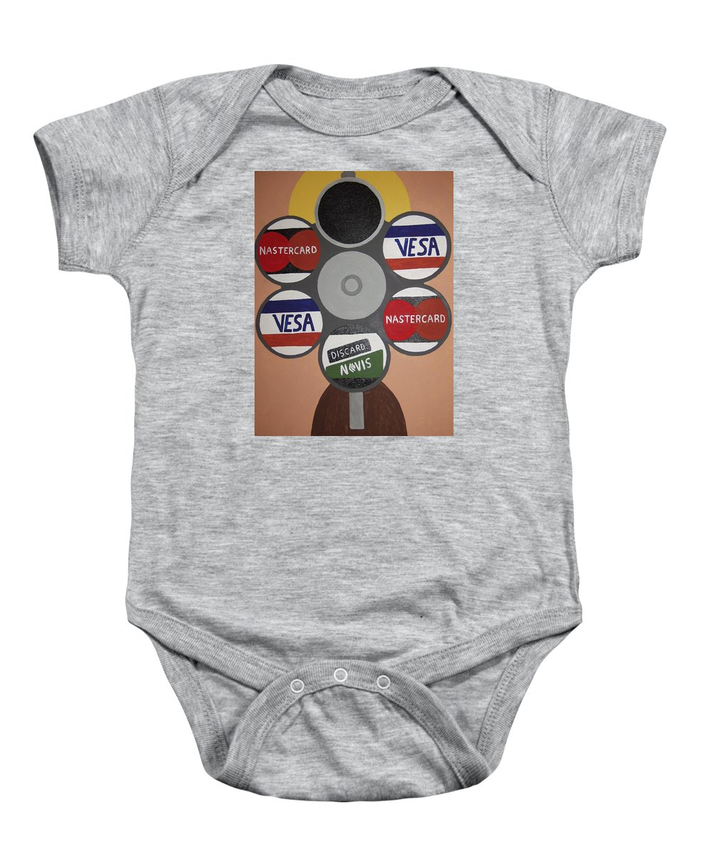 Painting Baby Onesie featuring the painting Suicide Solution by Dean Stephens