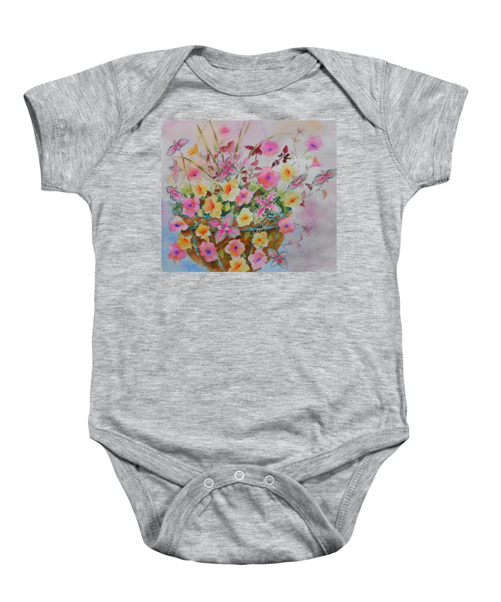 Flowers Baby Onesie featuring the painting Summer Joy by Amy Householder