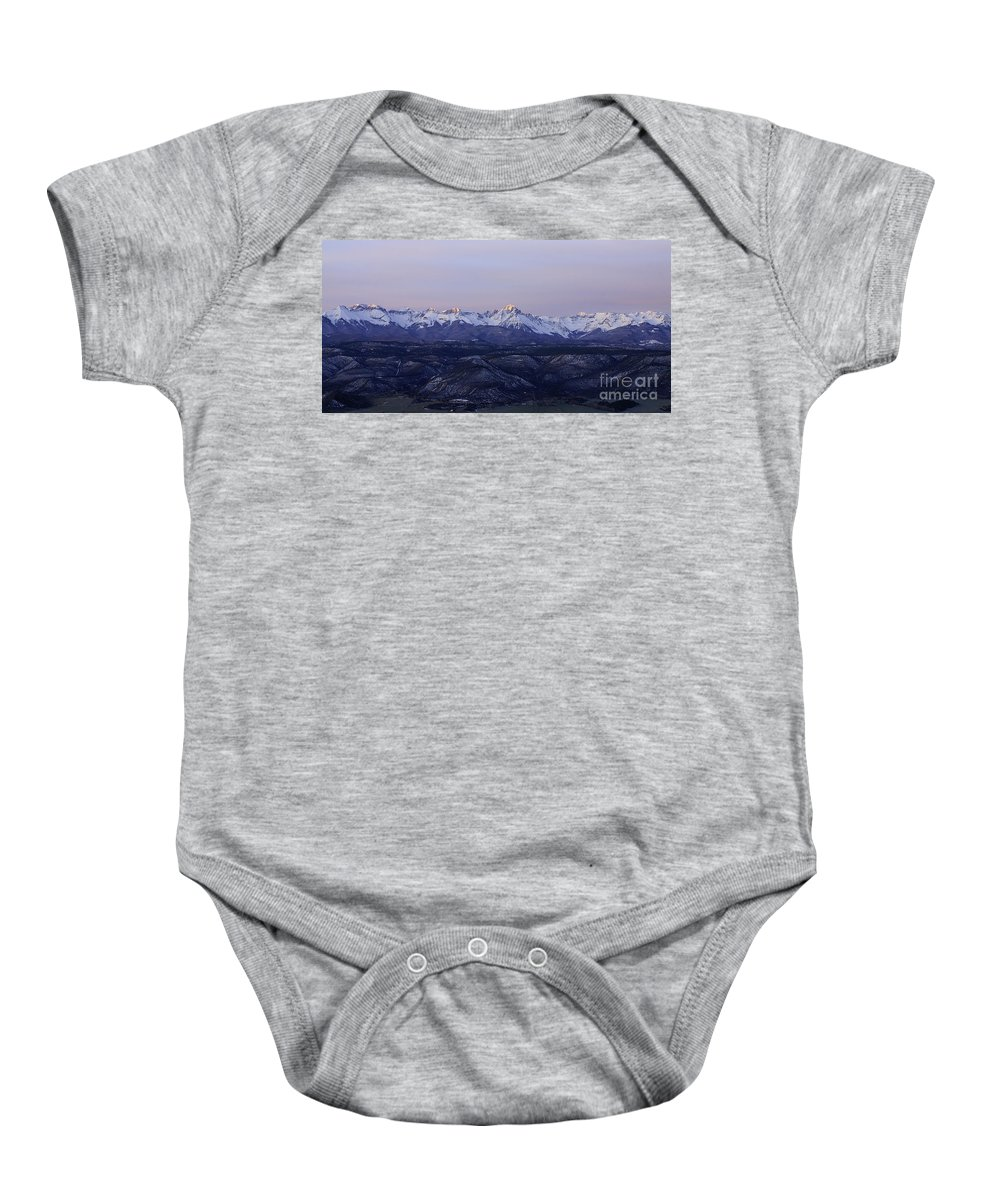 Landscape Baby Onesie featuring the photograph Sun-kissed Sneffels by Kelly Black