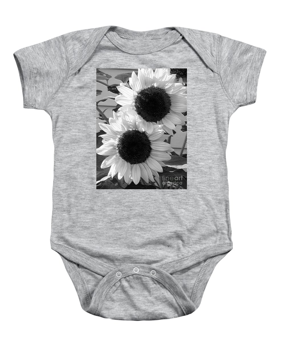 Mccombie Baby Onesie featuring the digital art Sunflower From The Color Fashion Mix by J McCombie