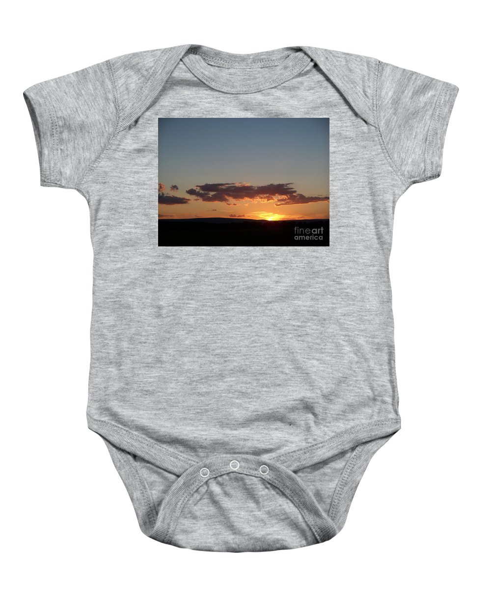 Sunset Baby Onesie featuring the photograph Sunset In Pennsylvania by Eric Schiabor