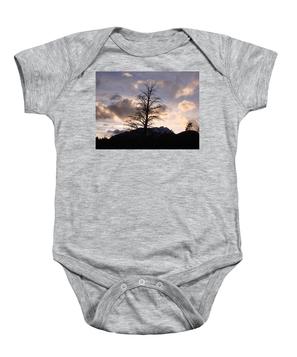 Sunset Baby Onesie featuring the photograph Sunset Ridge by Ian Mcadie